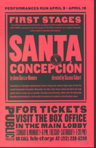 Flyer for Santa Concepcion, by Anne Garcia-Romero, Produced by the Public Theatre and the New York Shakespeare Festival, 1998.
