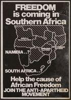 Anti-Apartheid Movement membership flyer, re: Freedom is Coming in Southern Africa, circa 1980