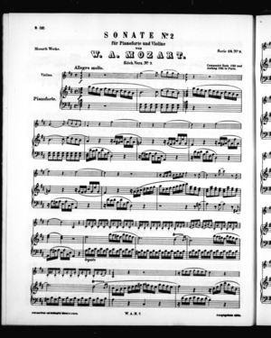 Sonate No. 2 für Pianoforte und Violine