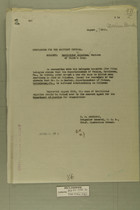 Memo from E. D. Anderson re: Matillidad Aejuiles, Mexican of Villa's Aray, August 27, 1918