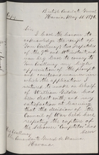 Copy of Letter from Alexander Gollan to Comandante General de Marina re: William Gildea's Sentence Suspended, May 11, 1896