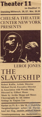 Flyer for the play The Slaveship by LeRoi Jones