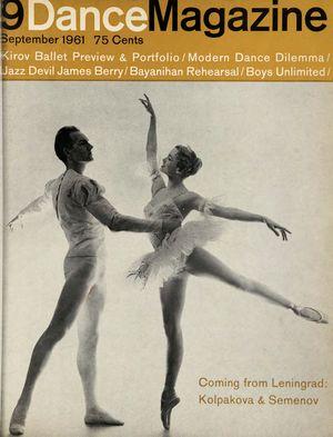 Dance Magazine, Vol. 35, no. 9, September, 1961
