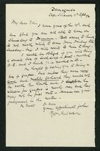 Letter from Robert Anderson to Edith Thompson, April 11, 1892