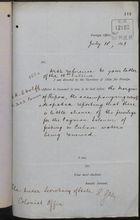 Memo from Sir Edward Grey to Under Secretary of State, Colonial Office, re: Obtaining Renewal of Fishing Privileges in Cuban Waters, July 18, 1893