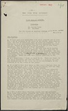 Draft Response from West India Royal Commission to Memo from League of Coloured Peoples & Negro Welfare Association, September 29, 1938