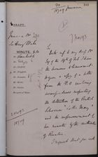 Draft Memo re: Detention of Vessel, 'Lottie May,' at Ruatan, November 07, 1893