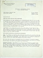 Field report from A. G. Sandoval, re: September 1943 report of El Oro Technical Mission Agricultural Section, October 8, 1943