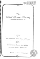 The Women's Resource Directory for Berkeley and the East Bay