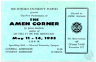 Poster for the premiere of The Amen Corner by James Baldwin