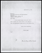 Letter Franz Boas to the Director of the Uzbek Institute of Experimental Medicine, September 2, 1938