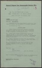 Confidential Telegram from Commonwealth Relations Office to UK High Commissioner in Canada re: Grantley Adams, November 3, 1954