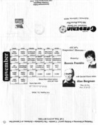 Tom Rolla's Gardenia Restaurant & Lounge Playbill, November 1993
