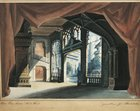 Austria, Vienna, set design sketch for Don Giovanni or the rake punish'd, Act four, scene one