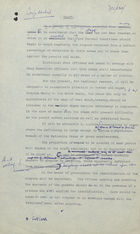 Draft of Circular Letter, with Annotations, from Ministry of Food, London, re: Regular Counting of Ration Coupons, April 1940