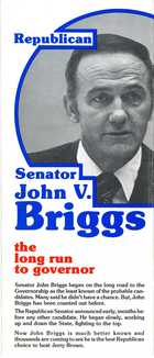 Republican Senator John V. Briggs: The Long Run to Governor