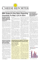 Cheese Reporter, Vol. 138, No. 28, Friday, January 3, 2014