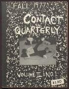 Contact Quarterly, Vol. 3, No. 1, Fall 1977, Contact Quarterly, Vol. 3, No. 1, Fall 1977, Teaching Issue