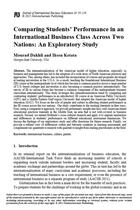 Comparing Students' Performance in an International Business Class Across Two Nations: An Exploratory Study