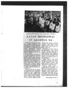 TAVIP MENJIWAI 17 AGUSTUS '64 [TAVIP BREATHES LIFE INTO 17 AUGUST '64]
