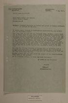 Memo from Georg Mulzer re: Presumed Violation of Border and Arrest of German Nationals by Members of the SNB, May 7, 1951