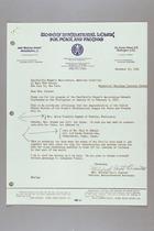 Letter from Mildred Scott Olmstead to Mrs. Dana Backus, November 17, 1954