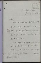 Letter from P. W. Currie to Under Secretary of State, Colonial Office, re: Sovereignty of the Pedro and Morant Cays, January 6, 1885