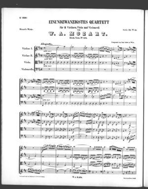 Einundzwanzigstes Quartett