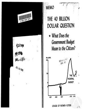 The 40 Billion Dollar Question: What Does the Government Budget Mean to the Citizen?