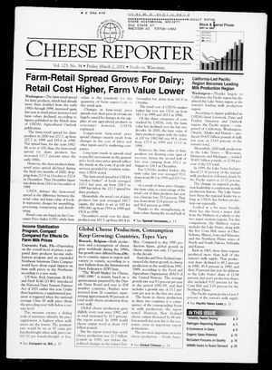 Cheese Reporter, Vol. 125, No. 34, Friday, March 2, 2001