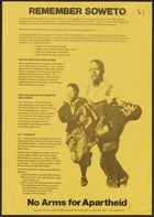 Petition, re: Remember Soweto, 1977. Printed by Anti-Apartheid Movement