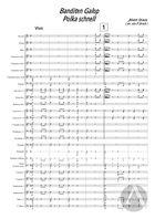 Banditen-Galopp, arranged for Symphonic Band, Op. 378