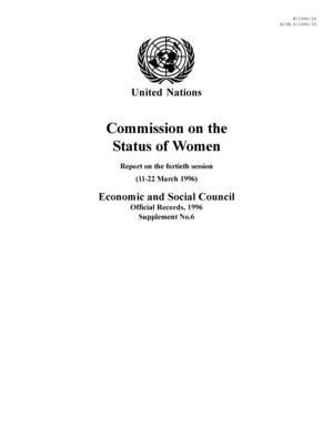 Report, United Nations Commission On the Status of Women, Session 40, 1996