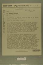 Telegram from Albert B. Franklin in Jerusalem to Secretary of State, April 1, 1959