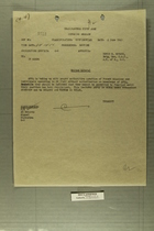 Confidential Memo from Gen. Truscott Ordering Halt to Unauthorized French Missions in Italy, June 4, 1945