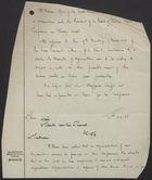 Handwritten Memo re: Board of Trades Press Conference, March 17, 1947