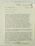 Memo from Richard B. Parker to Ambassador Battle re: Middle East Settlement, January 15, 1968
