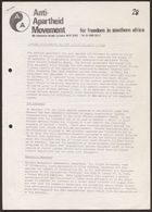 Anti-Apartheid Movement statement, re: Marconi tropospheric scatter system and South Africa, circa 1983
