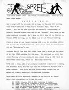 Letter from SPREE Board of Directors to SPREE Members, January 1972