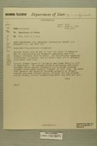 Telegram from William E. Cole, Jr. in Jerusalem to Secretary of State, June 2, 1955