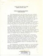 Visit of Shah of Iran August 22-24,1967 - Press Guidance/Contingency, Joint Release