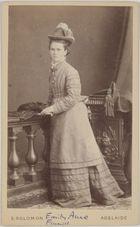 Carte de visite of Finniss, Emily Anne (Mrs. John Mitchell Borrow)