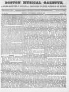 Boston Musical Gazette, Vol. 1, no. 5, June 27, 1838