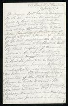Letter from Anonymous to Samuel Pratt Winter, July 12, 1874