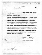 Letter from Glenn D. Thompson to The Commissioner, Washington, D.C., August 25, 1945