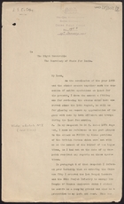 Copy of Letter from Lieutenant General Alfred Gaselee to Secretary of State for India re: Reviewing Operations in China, January 17, 1901