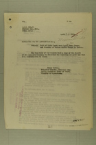 Memo from Lutz Wahl re: Raid of Indio Ranch near Eagle Pass, Texas, and Crossing of United States Troops to Mexico, April 23, 1918