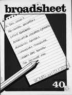 Broadsheet - Number 20, July 1974