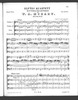 Elftes Quartett