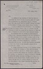 Letter from C. A. Kemball to the Under Secretary of State, Foreign Office, August 30, 1918